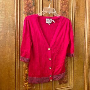 Juicy Couture Short Sleeve V-Neck Button Cardigan